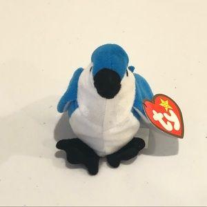 Ty Teenie Beanie Baby Rocket The Blue Jay